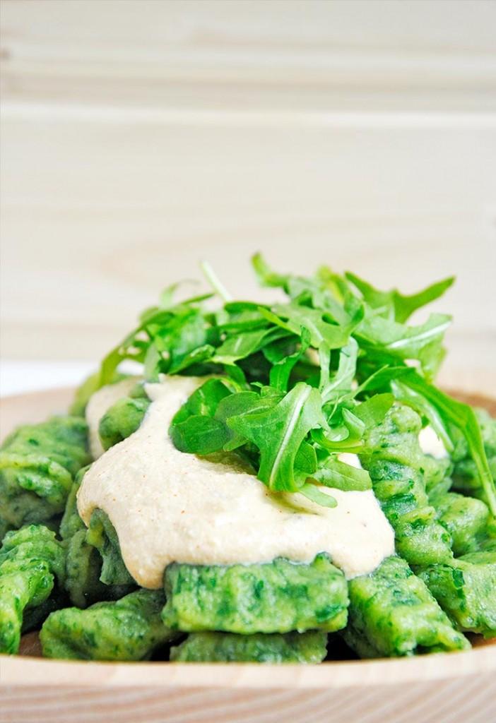 Green Vegan Gnocchi