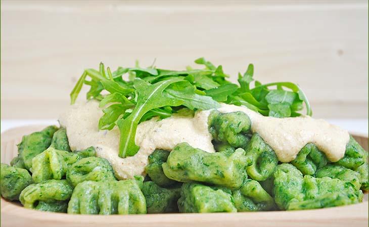 Gluten-Free Green Vegan Gnocchi