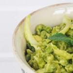 Warm Green Pea Salad Avocado Mayo Salata de mazare verde cu maioneza avocado menta