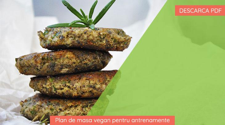 Plan de masa vegan pentru antrenamente