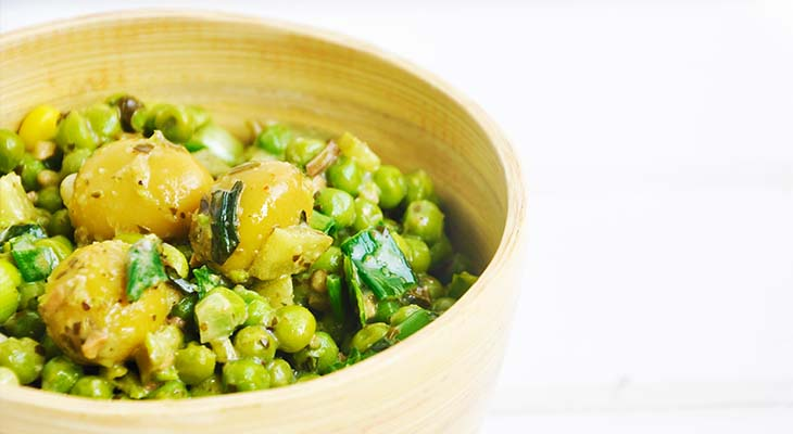 Green Pea and Olives Salad Salata cu mazare verde masline