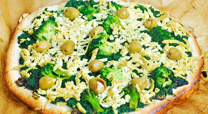 Green Vegan Pizza recipes