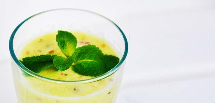 Fresh Citrus Barley Grass Juice Suc de kiwi si mere cu pudra de orz