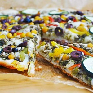 Middle Eastern Gluten-Free Vegan Pizza fara gluten oriental