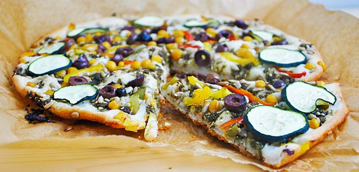Middle Eastern Gluten Free Vegan Pizza