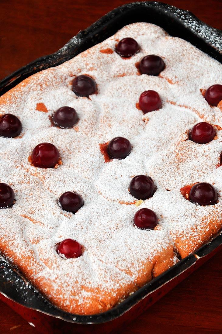 gluten free sour cherry cake