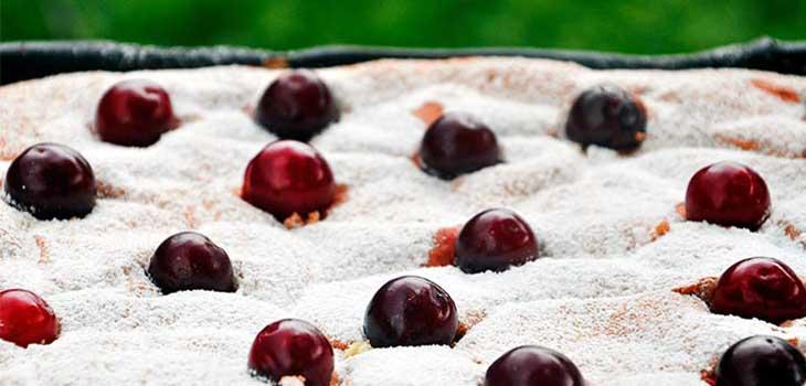 gluten free sour cherry cake prajitura fara gluten cu visine