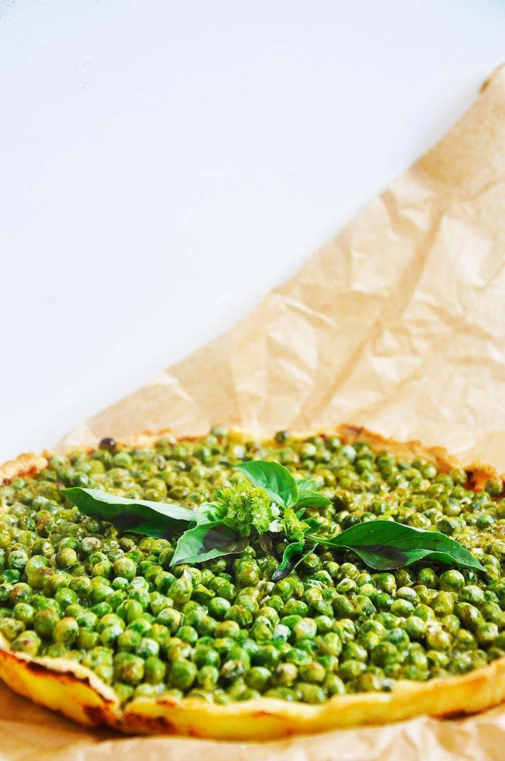 gluten free green pea tart