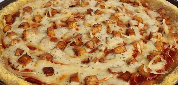 Buffalo Tofu Pizza