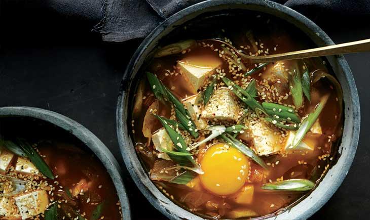 Spicy kimchi tofu stew tofu recipes