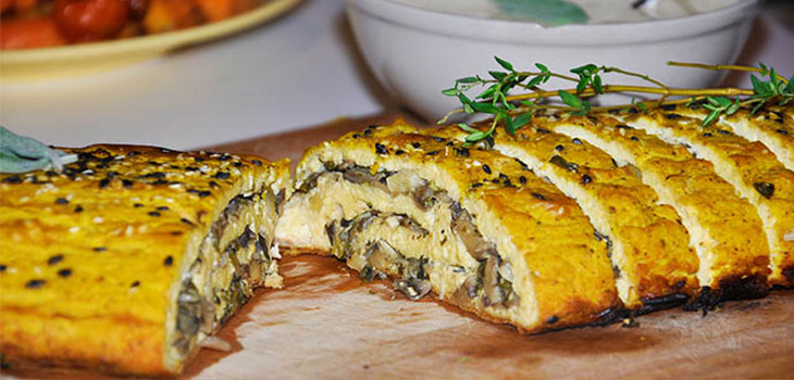 Tofurkey roulade Vegan Christmas Dinner Recipes