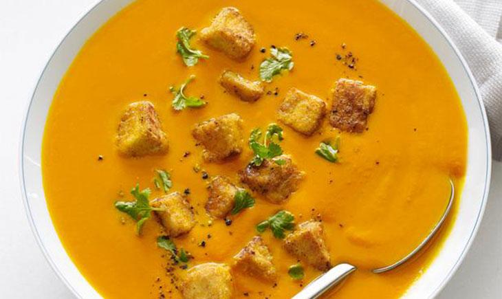 carrot ginger tofu soup