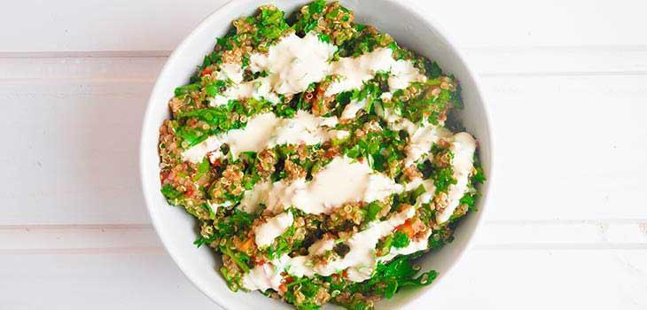 vegan gluten free quinoa tabbouleh de quinoa