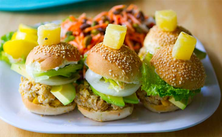 California Veggie Burger Sliders