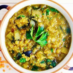 eggplant dhal cu vinete indian food