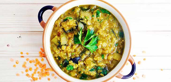 eggplant dhal cu vinete indian food