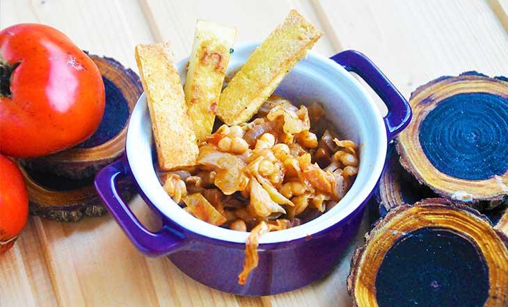 Smoky cabbage stew Mancare de varza cu fasole si afumatura