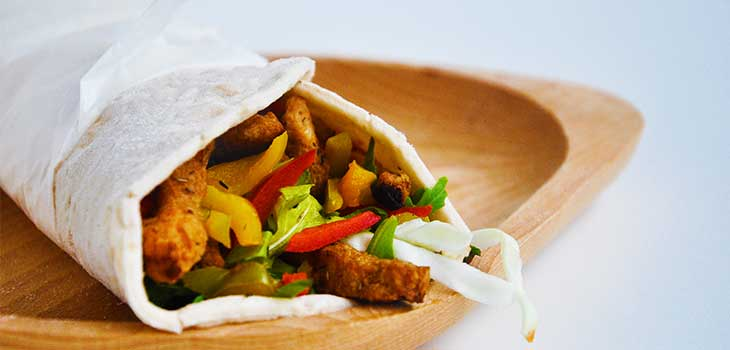 Veggie Wrap with Charred Peppers fajitas Vegan Wraps Recipes