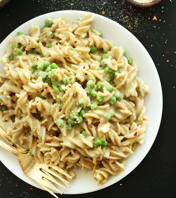 alfredo pasta-vegan vegan dinner recipes