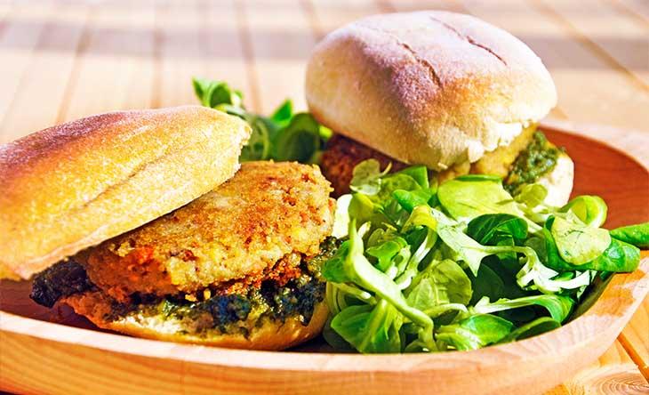 Green Chickpea Sandwich Sandvis cu naut
