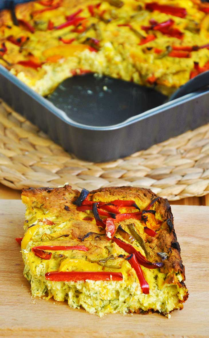 Retete low carb quiche vegan ardei fara gluten