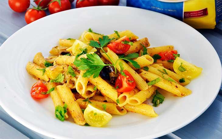vegan eggplant pasta creamy gluten free