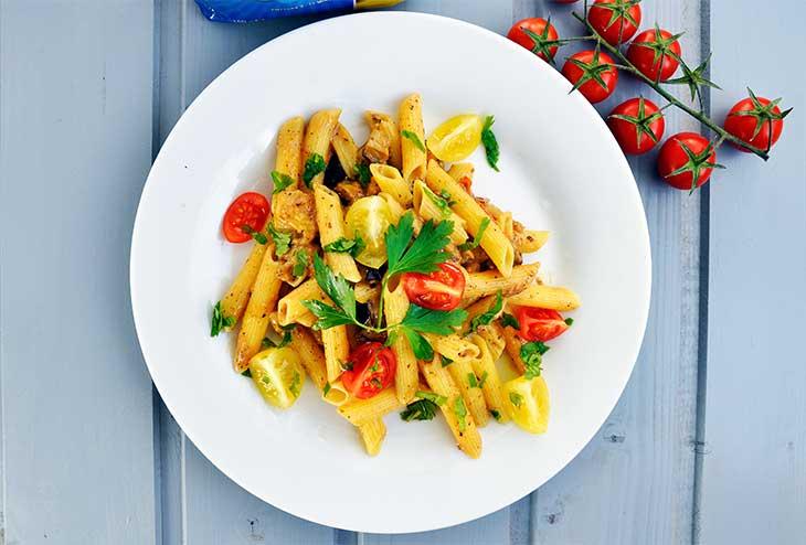 vegan eggplant pasta creamy gluten free Paste fara gluten cu vinete rosii