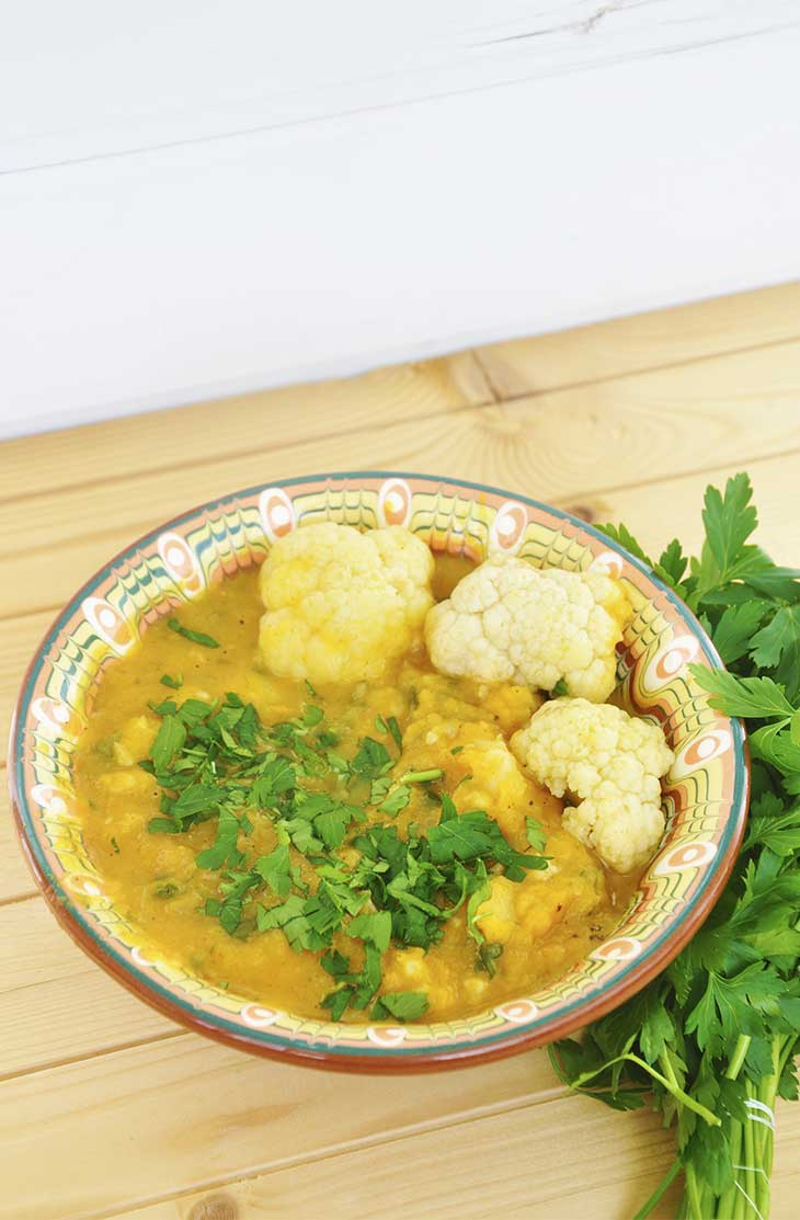Cauliflower sweet potato stew Vegan Stews