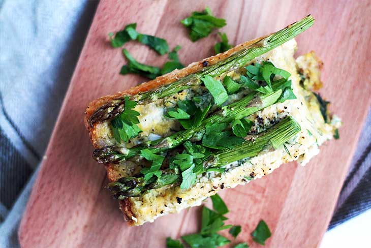 Vegan Crustless Asparagus Quiche french cuisine