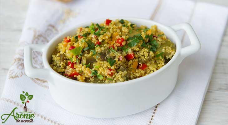 pilaf de quinoa retete vegane pentru cina