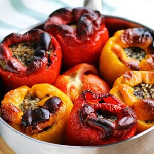 stuffed peppers ardei umpluti reteta vegetariana