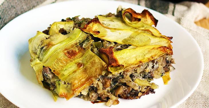vegan zucchini casserole caserola de dovlecei reteta