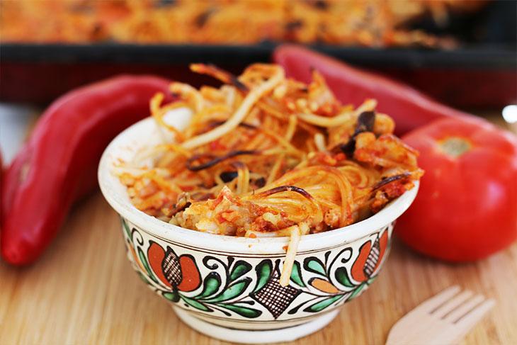 Tomato Pasta Bake Vegan Paste la cuptor cu rosii
