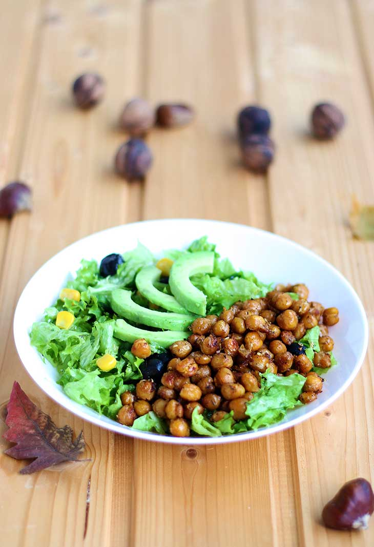 crispy chickpea salad