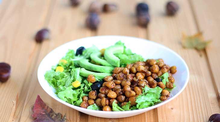 crispy chickpea salad salata cu naut crocant