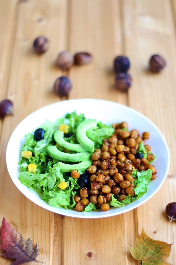 crispy chickpea salad High-Protein Salad Recipes