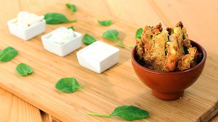 crispy zucchini fries sticksuri crocante de zucchini