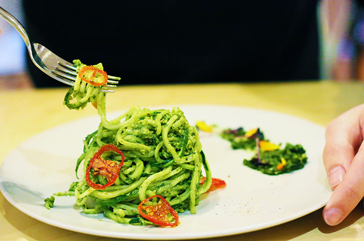 spaghete raw vegane