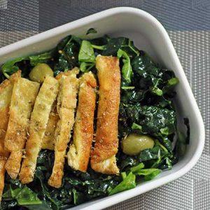 breakfast kale salad salata de kale cu omleta