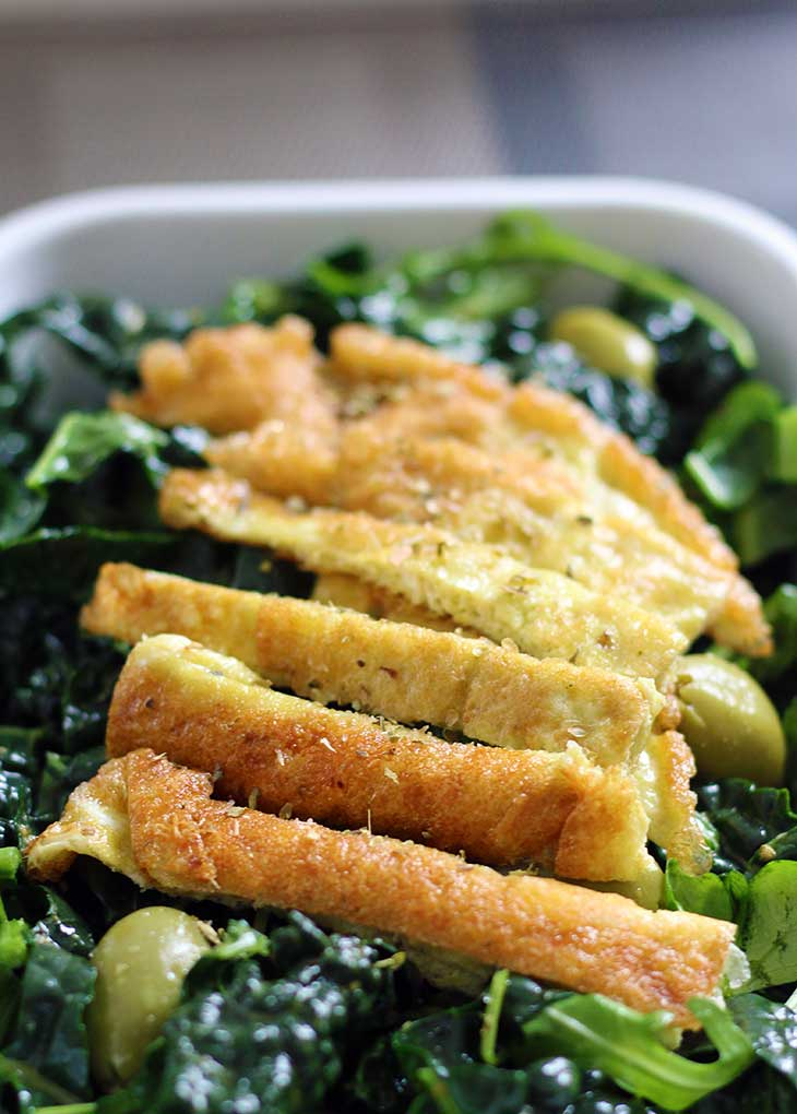 salata de kale cu omleta