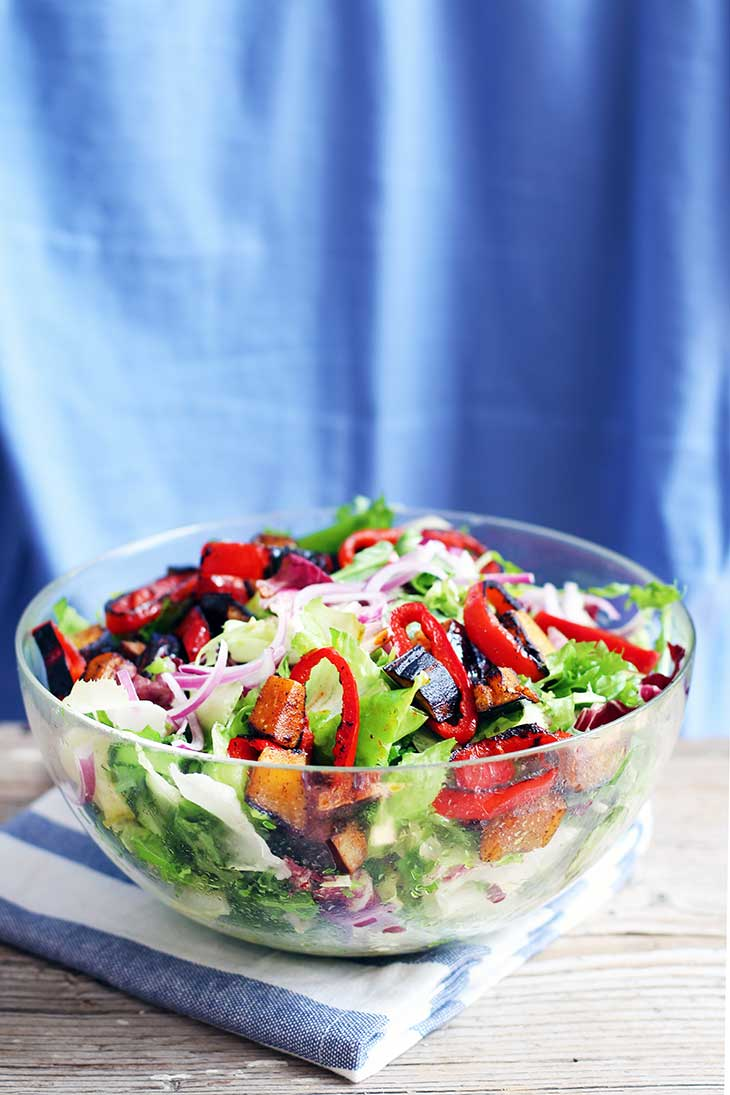 Summer Salad with Peppers Eggplant 4th Of July Recipe