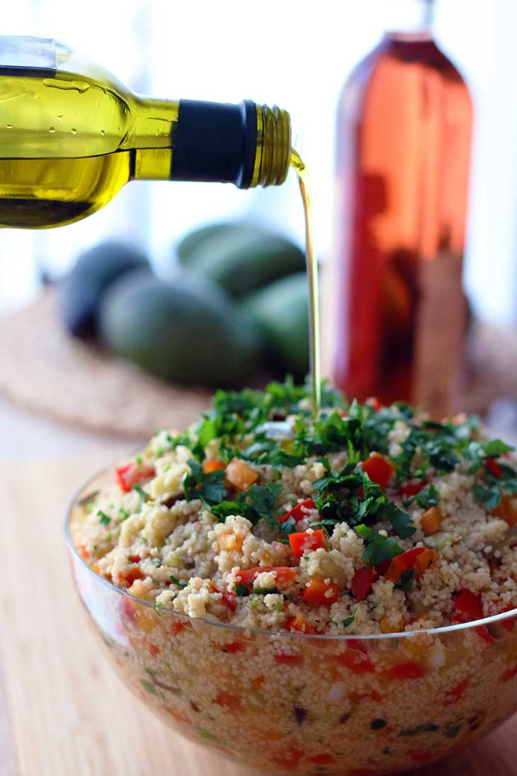 healthy couscous salad