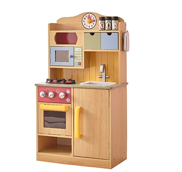 Wooden Toy Play Kitchen with Accessories Best Cooking Toys