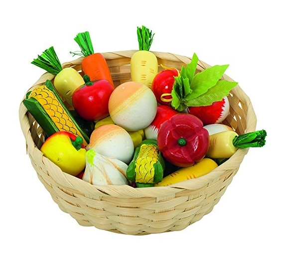 Goki Vegetables In Basket Toy Food Best Cooking Toys