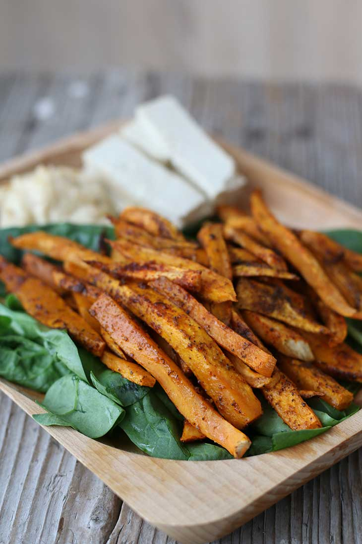 how to make sweet potato fries vegan