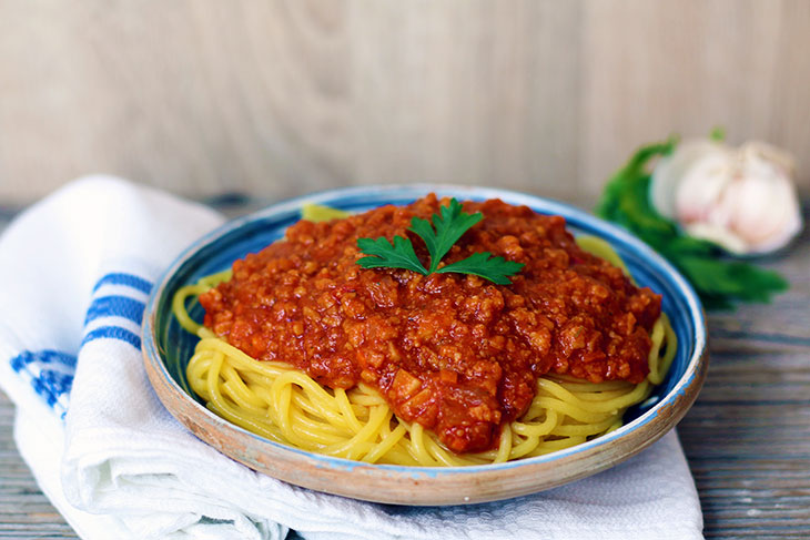 Vegan Bolognese Pasta recipe paste bolognese vegane de post