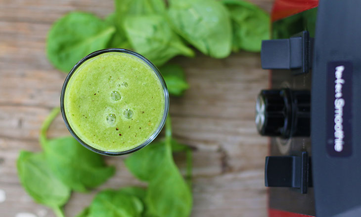 tropical green smoothie exotic verde vegan