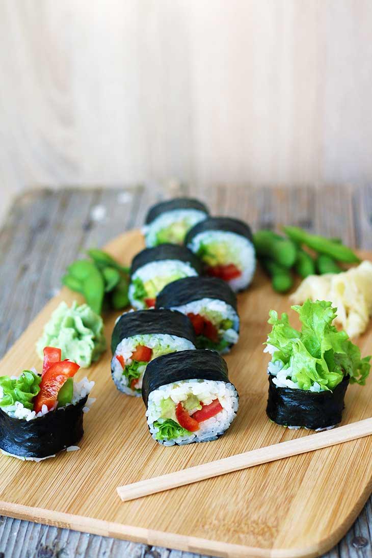 how to make vegan sushi rolls vegetarian