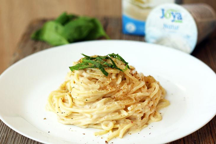 roasted garlic pasta spaghete cu sos cremos usturoi copt vegan