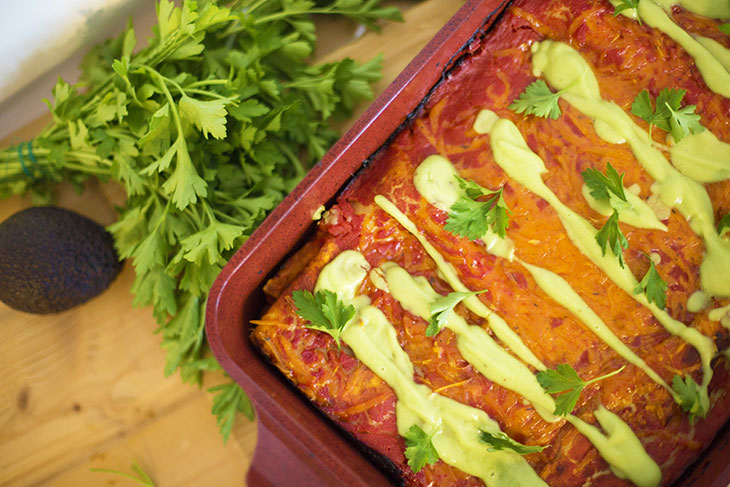 vegan enchiladas mexican recipe